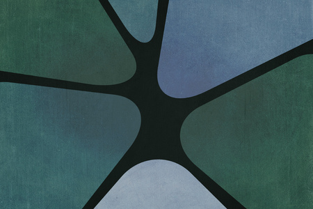 seventies: Sixties or seventies decoration background with texture. Colors green, gray and blue