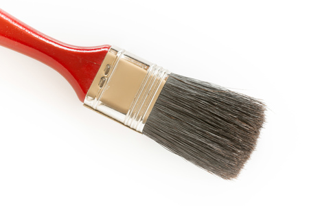 sable: Detail of a red brush sable on white background