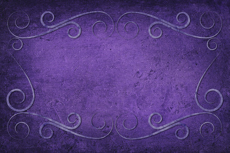 mauve: An antique decorative frame with a background with texture. Colors blue, purple, violet and mauve