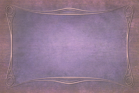 mauve: An antique decorative frame with a background with texture. Colors pink and mauve