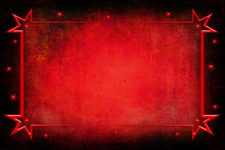 rd: An antique decorative red Christmas glass frame with a background with texture. Red and black colors Stock Photo
