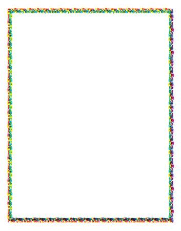 jaunty: Colored Merry Christmas Frame Illustration