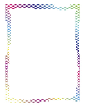 jaunty: Frame made of colored dots for a happy celebration or Xmas
