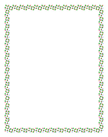jaunty: Frame made of colored Christmas fir trees for a happy celebration or Xmas