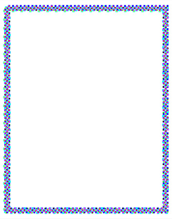 jaunty: Frame made of colored square dots for a happy celebration or Xmas