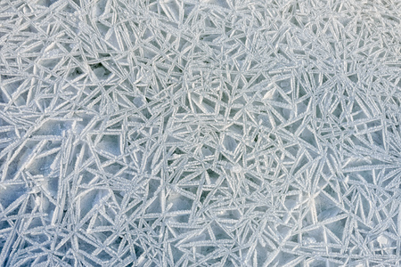 craquelure: Frozen ice texture on the Dnieper river in Kiev, Ukraine, during winter