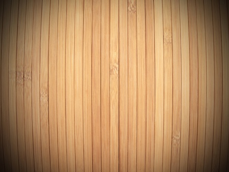 laths: Background made of vertical  bamboo laths with vignette. Stock Photo