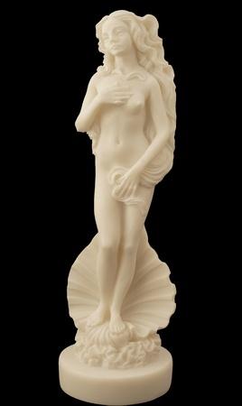 aphrodite: La diosa del amor Afrodita sobre un fondo negro.