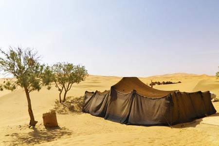 Morocco desert with Merzouga