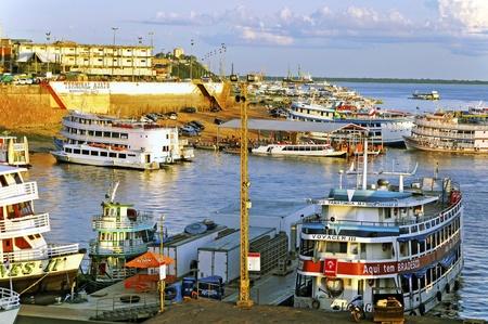 Brazil, the Amazon Manaus harbour