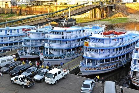 Brazil Manaus harbour in Rio Negro