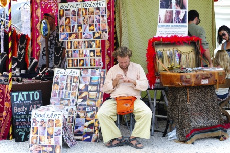 Spain, Ibiza, hippie market Las Dalias, Editorial