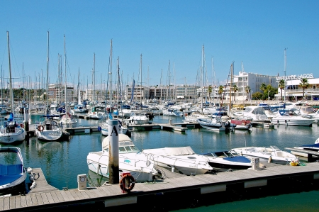 The yacht harbour of Lagos has a more modern atmosphere  Lined by shops, cafes and restaurants it is a wonderful place to lean back with a drink and to observe the activity