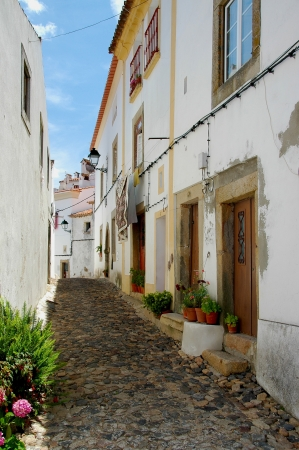 The picturesque place Castelo de Vide is in the region of Alto Alentejo Portugal, against the slope one of the northern runners of the Serra de Sao Mamede of mountains