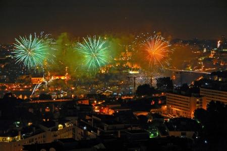 Dia de S�o Jo�o, Party of the patron saint s Portos, fireworks and joy everywhere Stock Photo - 14914038