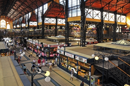 The big covered market is the gr��tete covered market of Budapest which is in 9-ten district on the edge of the city centre and near the freedom bridge