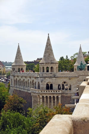 fisherman bastion: The Fisherman s Bastion is one of the most outstanding buildings in Budapest and created from 1899 to 1905 according to the designs of Frigyes Schulek  It is located on the Buda side of the city and offers a spectacular view  Editorial