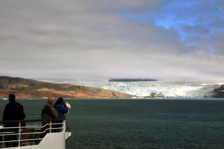 alesund: Glacier near Ny Alesund in Svalbard