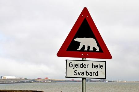 svalbard: Gjelder hele Svalbard   It applies to the whole of Svalbard Stock Photo