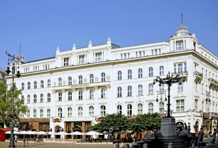 The Caf� Gerbeaud on V�r�smarty t�r 7 in Budapest, Hungary, is one of the largest and most traditional coffeehouses in Europe  Editorial