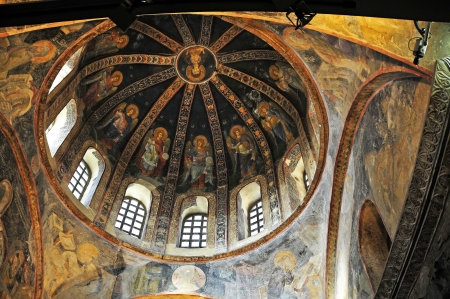 chora: The Chora Church is considered the finest example of a Byzantine church and is located in the district Edirnekapi  The mosaics and frescoes of the church are among the most important and most complex religious cycles  The church was built in 1320 and unde Editorial