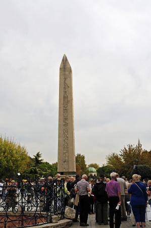 The Egyptian obelisk The decorated with carved hieroglyphics Egyptian obelisk is the oldest monument in Istanbul  He was III in the time 1490 BC by Pharaoh Tutmoses  in Egyptian Luxor before Karmak Temple to commemorate the victory in Mesopotamia aufgeste