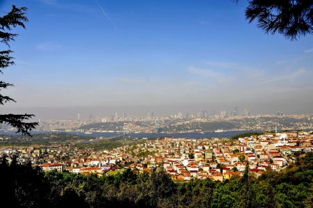 An impression of the enormous dimensions of Istanbul but you get more if you are on the lookout hill which lies on the Asian side of Istanbul photo