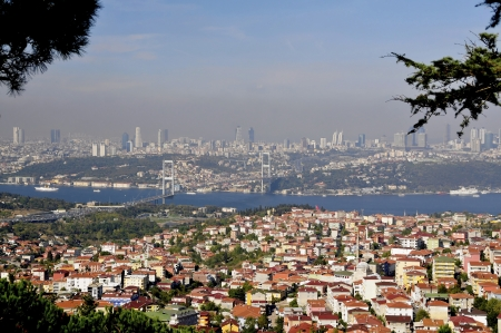 The much light you have best view of Istanbul from  a hill on the Asian side It is this breathtaking view of the Bosphorus Bridge, and that also applies to Istanbullus themselves as symbols of the city  photo