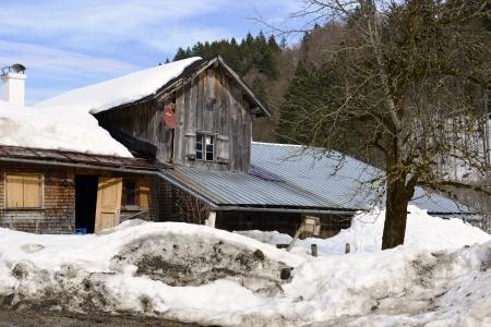 Old farm buildings in Oberstdorf