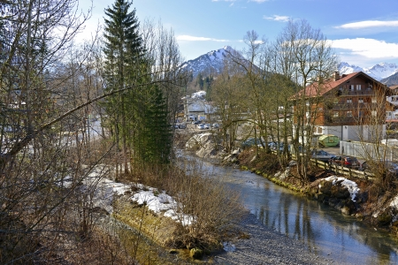 Oberstdorf in Bavaria, Allgaeu, in the vicinity of the valley station of the Nebelhorn