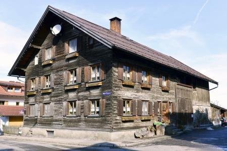 Old farmhouse in Oberstdorf, Bavaria, Allgaeu Editorial
