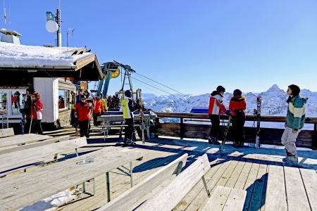 Summit station of Nebelhorn in the Allgaeu, Oberstdorf Editorial