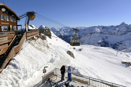 Summit station of Nebelhorn with panoramic terrace Editorial