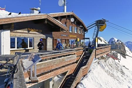 Summit station of Nebelhorn in the Allgaeu, Oberstdorf, Germany Editorial