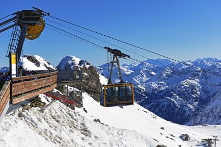 Nebelhornbahn  Allgaeu, Oberstdorf, summit station Hoefatsblick Editorial