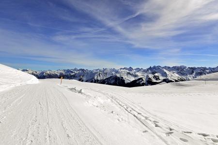 Ski area at The High Ifen in the Allgaeuer Alps, west of Kleinwalsertals