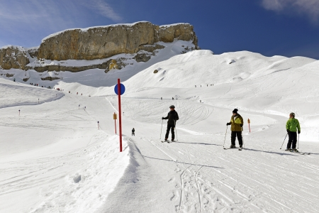 The ski resort Gottesackerplateau