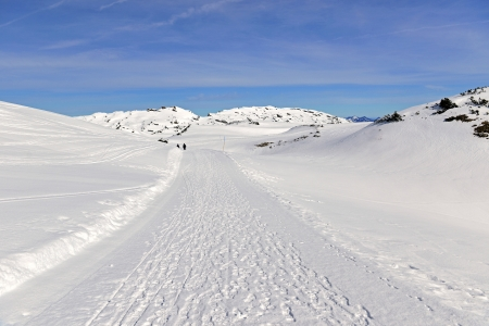 The High Ifen 2230 is a high mountain in the Allgaeuer Alps, west of Kleinwalsertals Stock Photo