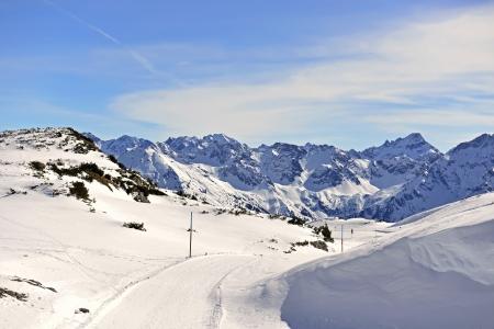 Winter hiking path in the High Ifen Kleinwalsertal Beautiful hiking trails on Gottesacker