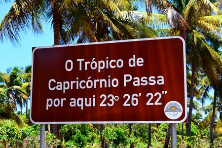 Tropic of Capricorn Фото со стока