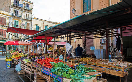 Market events in the streets of Palermo
