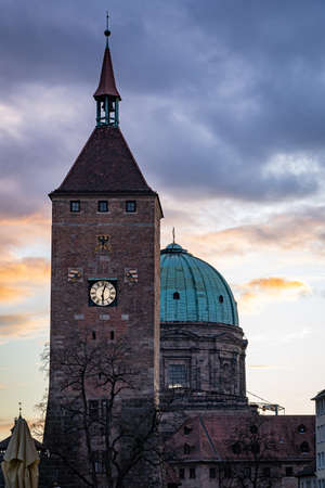 A view of Nuremberg Germany in late 2019