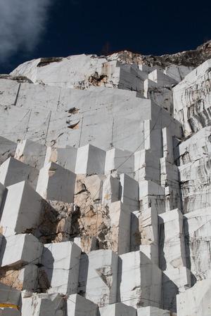 carrara: Marble of Carrara extraction Stock Photo