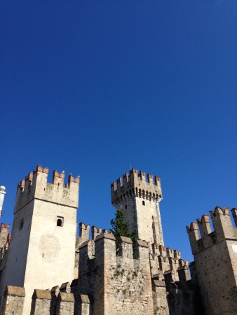 sirmione: Castle Italian tower sirmione Garda lake
