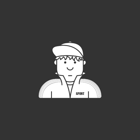 icon guy in a tracksuit and baseball cap Illustration