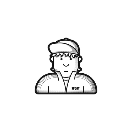 tracksuit: icon guy in a tracksuit and baseball cap Illustration