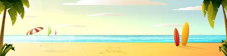 sonnigen Sommer-Strand