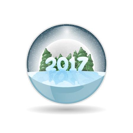 Christmas vector design element. Christmas crystal ball. New Years Eve 2017.