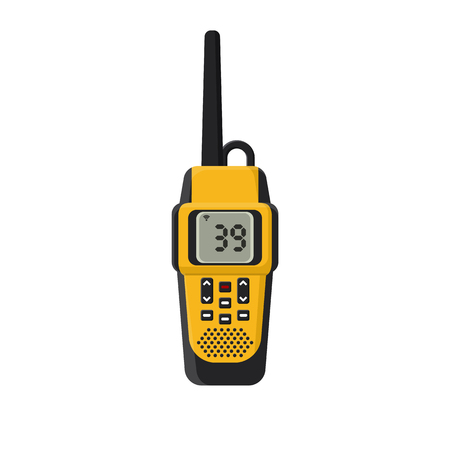 Walkie-talkie. On isolated white background. Vector illustration, flat