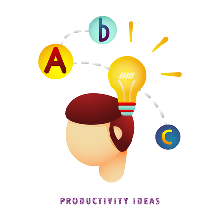Productivity ideas. Vector illustration. Flat. Gradient.